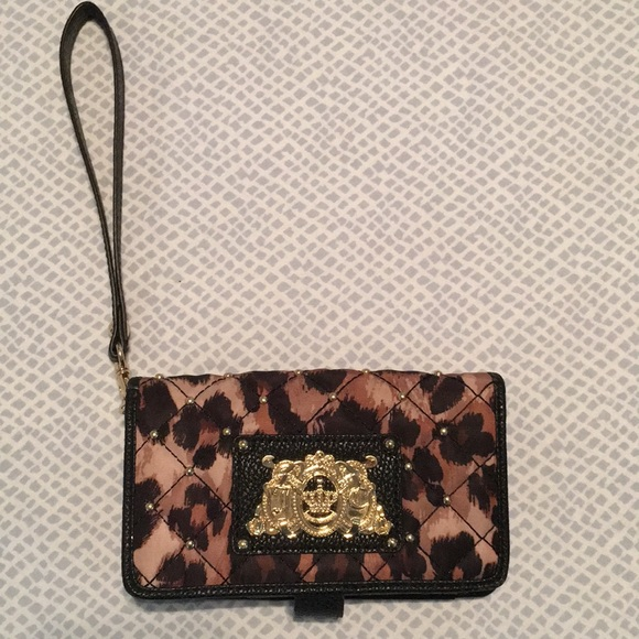 Juicy Couture Animal Print Wristlet.